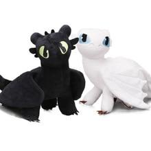 2pcs/set 35cm How to Train Your Dragon 3 Plush Toys White Toothless Ni