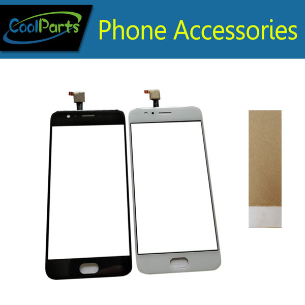 1PC/Lot High Quality 5.0 Inch For UMIDIGI C2 Umi C2 Touch Screen Digitizer Panel Lens Glass With Tape Black White Color