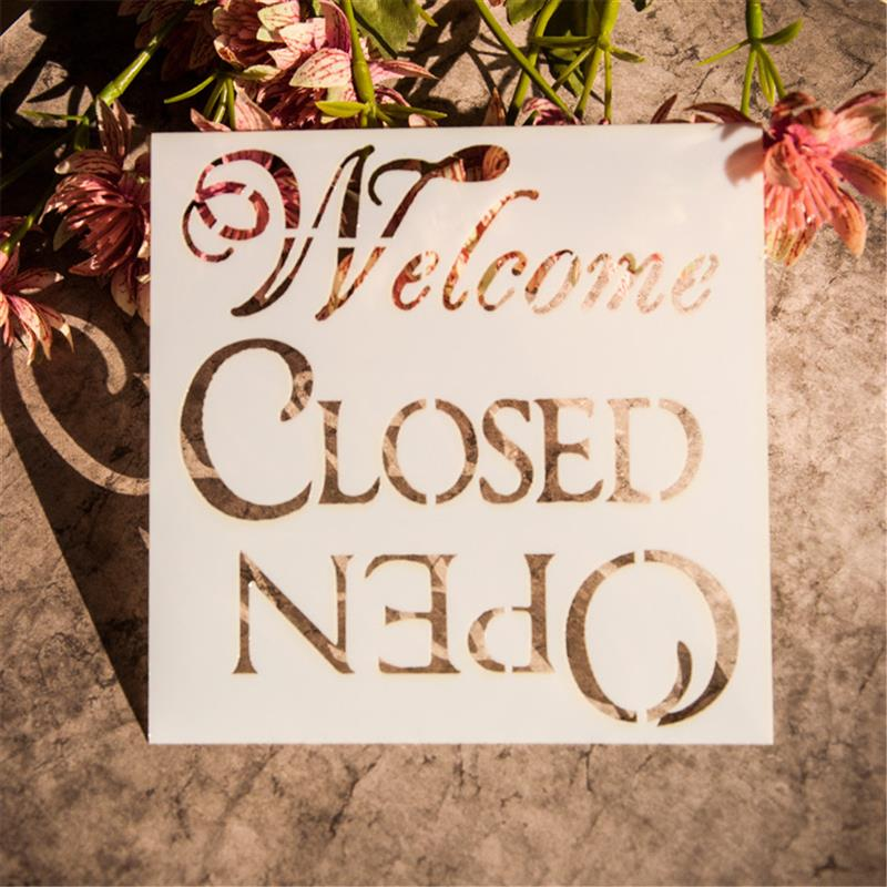welcome letter painting stencils scrapbooking decor art wall craft