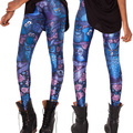 X-053 Pirate Punk Leggings Fitness Pants Digital Printing ADVENTURE TIME Attack Of The Unicorn Leggings For Women Casual