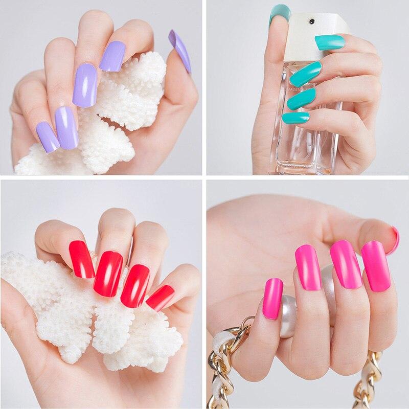 Colorful Peelable Nail Polish Ideas - Nail Art Ideas - morihati.com