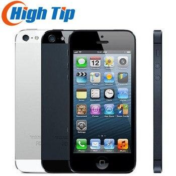 100% Factory Original Iphone 5 Sealed box Unlocked Apple Cell phone 16GB 32GB ROM 16GB 32GB 64GB IOS 4.0 inch 8MP WIFI GPS Used 1