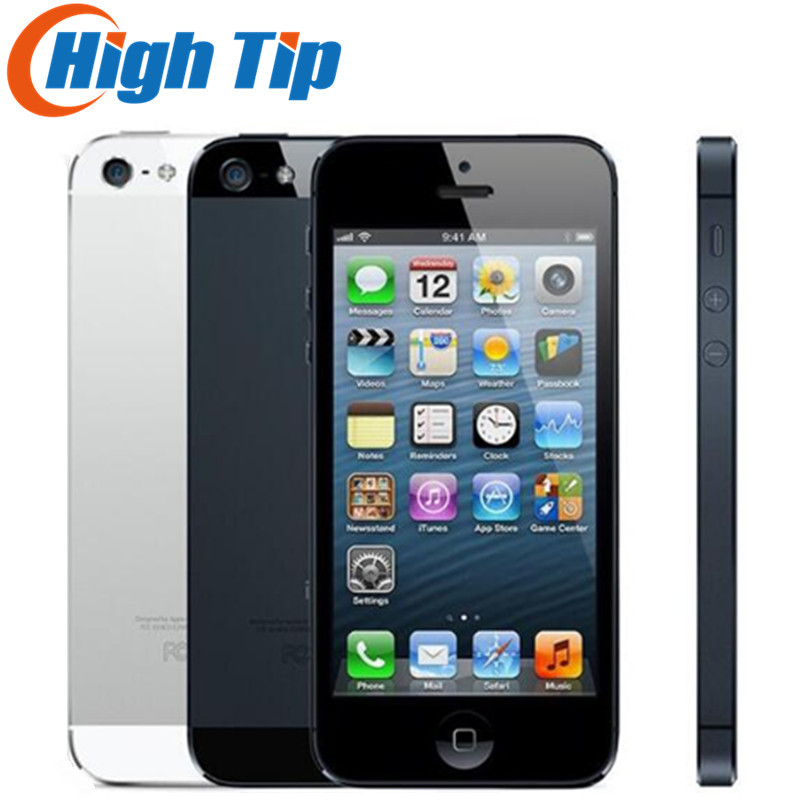 Оригинальный заводской разблокированный сотовый телефон Apple Iphone 5 100%, 16 ГБ 32 Гб ПЗУ 16 ГБ 32 ГБ 64 ГБ, IOS, 4,0 дюйма, 8 Мп, Wi-Fi, GPS, б/у