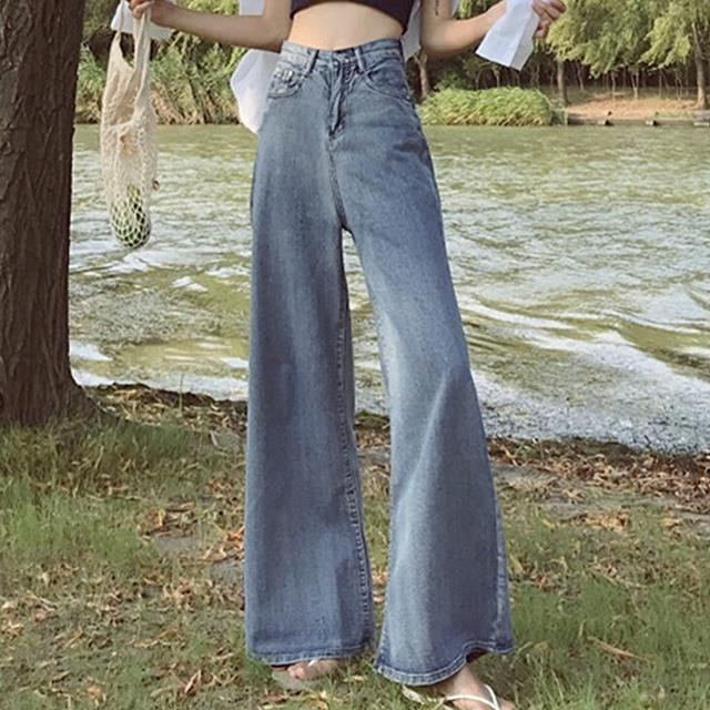 2018 summer high Waist Flare Jeans Pants Stretch Skinny Jeans straight Women Wide Leg jeans