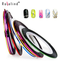 Rosalind 10 Color Striping Tape Line Nail Art Decoration Sticker Rhinestone & Decoration Nail Art Beauty