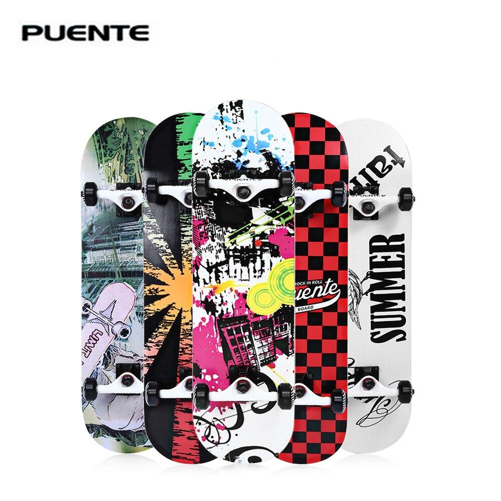 PUENTE 602 ABEC-9 planche à roulettes Longboard quatre roues Double snobby érable Penny Skate longue planche à roulettes Deck divertissement