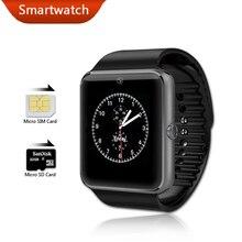 Smart watch gt08 bluetooth salud desgaste androide smartwatch dz09 gv18 pk gimnasio relojes reloj de la cámara del teléfono móvil a prueba de agua