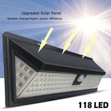 Солнечный светильник s светодиодный настенный светильник с активированным движением яркий водонепроницаемый беспроводной уличный светильник для безопасности с датчиком движения