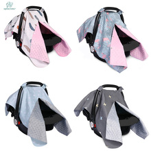 Fashion Baby Car Seat Blanket Cover  Bow Newborn Baby Girls Soft Safety Car Seat Canopy Nursing Cover Multi-use Blanket Cover