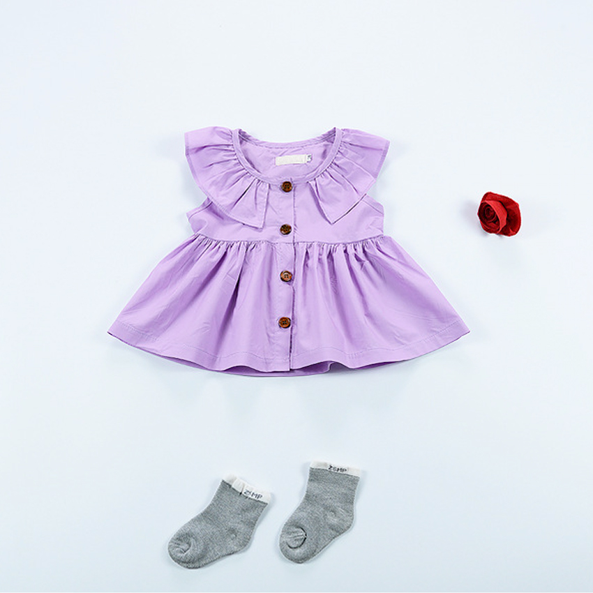 infant girl dresses solid cotton baby dress nordic style newborn