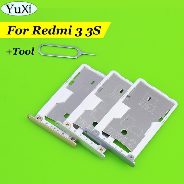 YuXi New SIM Card Tray Slot For Xiaomi for Redmi 3s 3 Housing Case-in SIM  Card Adapters from Cellphones & Telecommunications on Aliexpress com |