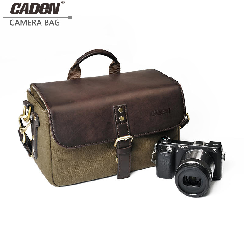 CADeN Vintage Camera Shoulder Bags Sling Video Photo Digital Portable Case Waterproof Canvas Bag for DSLR Sony Canon Nikon P1 ightpro camera sling bag shoulder cross digital case waterproof dslr lens tripod traval soft men women bag for canon nikon sony