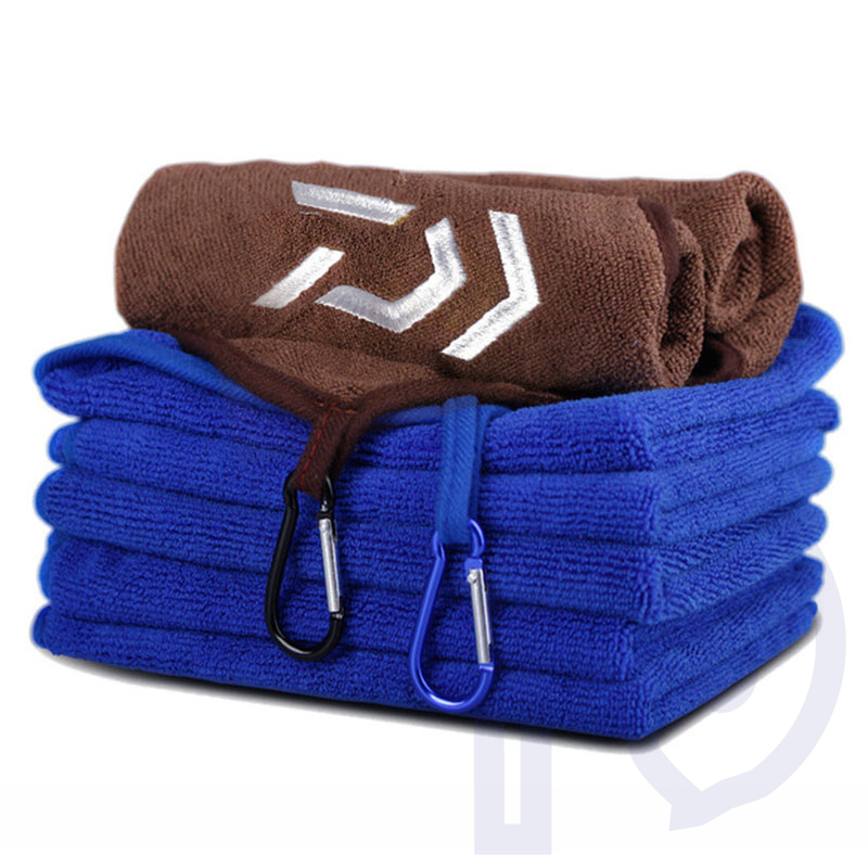 Outdoor Sports Fishing Clothing Fishing Towel Thickening Non-stick Absorbent Wipe Fishing Hiking Climbing Hands Towel ultrafine absorbent towel used to clean the car