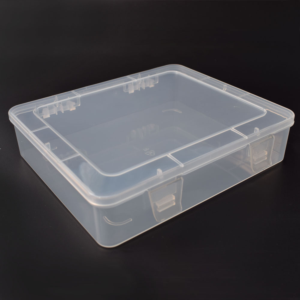 NEWACALOX DIY Toolbox Electronic Plastic Parts Waterproof Transparent Tool Box SMD SMT Screw Containers Component Storage Case