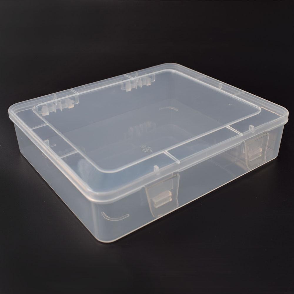 NEWACALOX DIY Toolbox Elektronische Kunststoff Teile Wasserdicht Transparent Tool Box SMD SMT Schraube Container Komponente Lagerung Fall