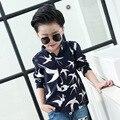 Ropa de los niños de la edición de han cultiva su moralidad de algodón de manga larga render camisa de chico camisa de vestir cuhk infantil