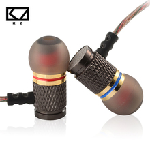 Kz EDR1 イヤホン特別版ゴールドメッキ重低音インナーイヤー型で ear 音楽 hd 金属で低音ステレオ 3.5 ミリメートルヘッドホン