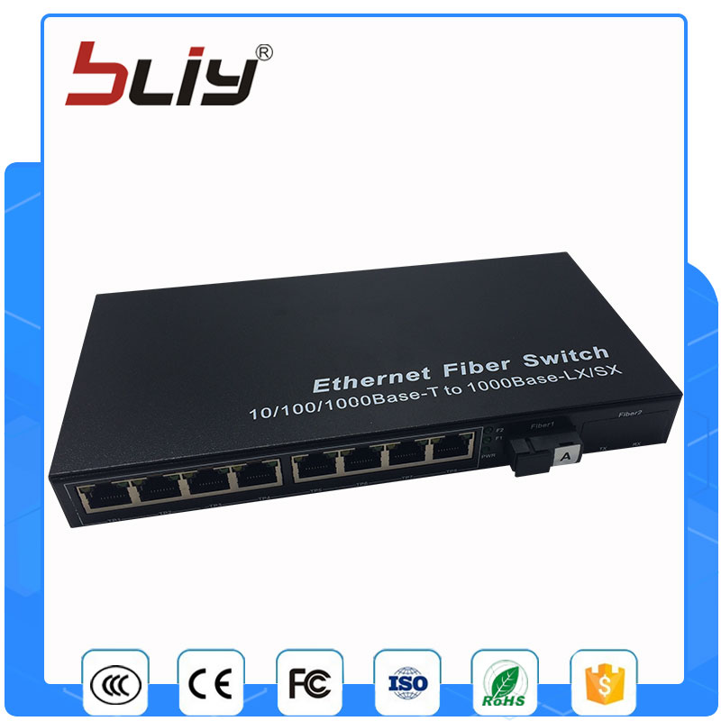 1G8E gigabit fiber optic ethernet switch 1 fiber port 8 rj45 port gigabit multi mode single fiber optic fiber switch diewu 82545mf pci x gigabit fiber network adapter card nic w intel82545 gm em pwla8490mf single port multi mode fiber module