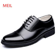 Genuine Leather Party Shoes Men Formal Luxury Dress Shoes Oxford Mens Black Wedding Shoes 2019 Classic Military Business Flats цены онлайн