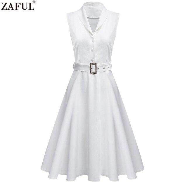 7cf8db5718969 ZAFUL Cinturones de Vestido Sin Mangas de Las Mujeres Del Verano de La  Vendimia Vestidos de
