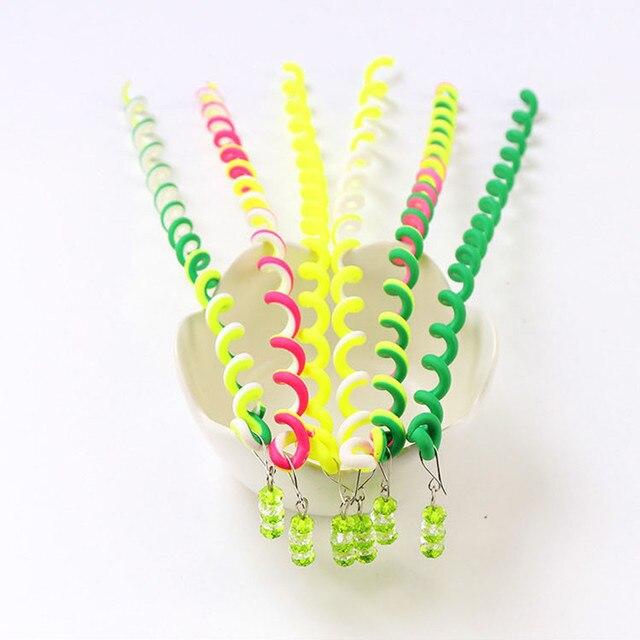 6Pcs//Set Kids Fashion Sweet Curler Hair Braid Hair Sticker Girl/'s Decor Hair
