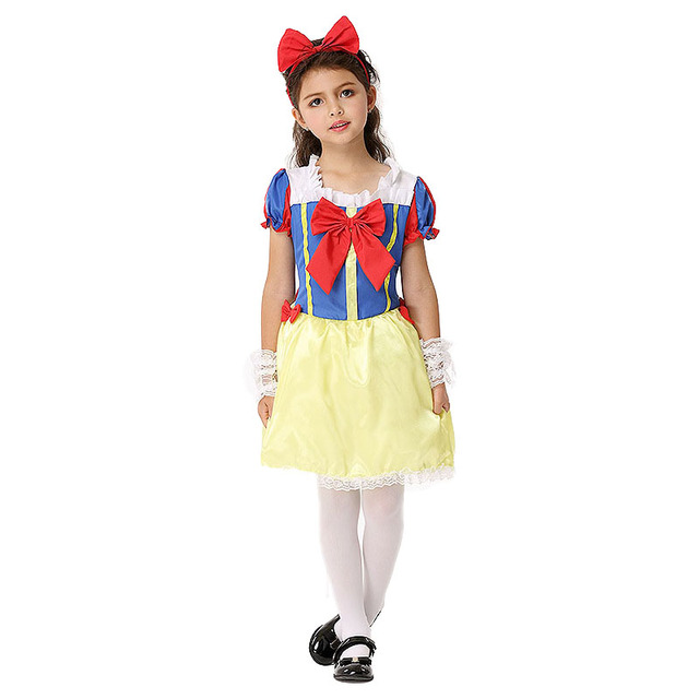 Halloween Costume Kids Girl Snow White Princess (Dress+Headdress+ ...