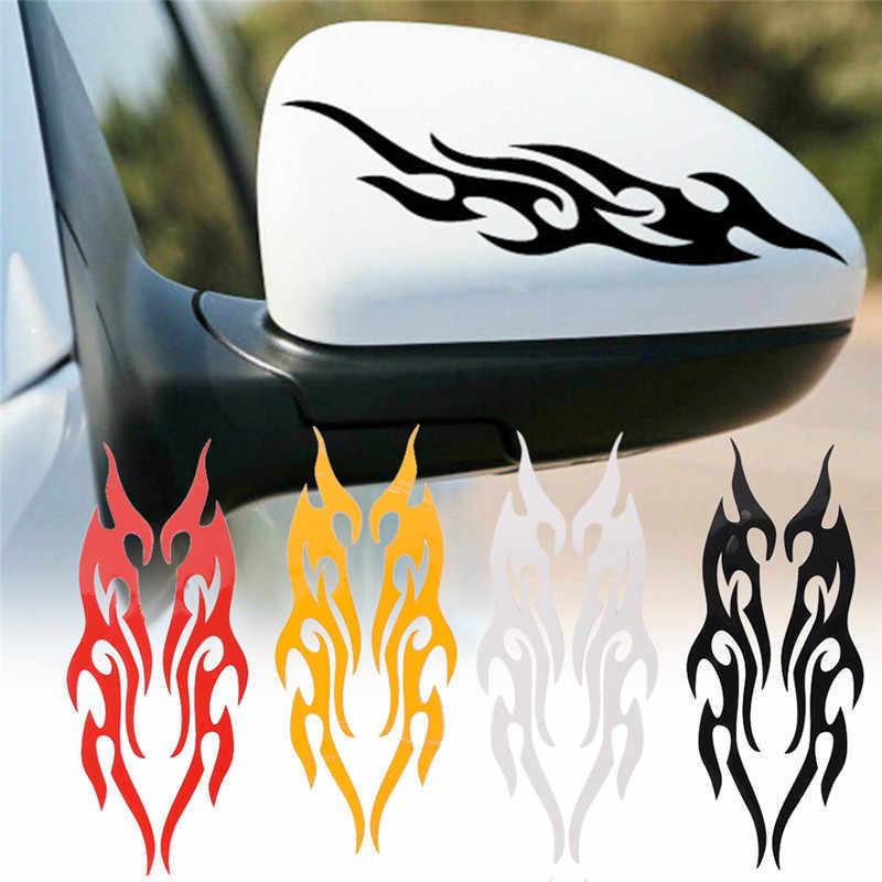 1pcビニールカバー自動炎火災ステッカー車のスタイリングユニバーサルスタイリングエンジンフードオートバイデカール装飾ホット販売