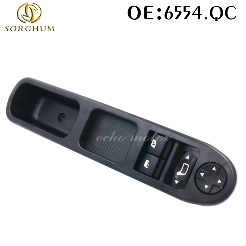 NEW FRONT LEFT DIRVE SIDE Master Power Window Switch 6554.QC for Peugeot 207 Stufenheck 2007-2014 for Citroen C3 Picasso for nissan tiida lhd 2011 2014 front left driver side electric switch car window master button 25401 3df0b
