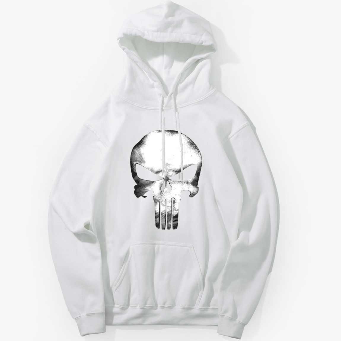 Толстовки с черепами хип хоп Уличная Для мужчин Swag панк Рок толстовка с капюшоном хип хоп Черный Черепа 2019 зима осень флис теплая