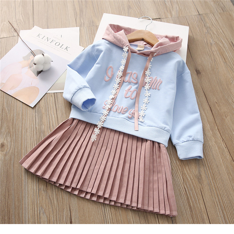 2018 Spring Girl Long Sleeve Dress Princess Dress Kids Clothes Children Letter Hoodes Dresses For 3-7 Years Old uoipae girl kids dress spring 2018