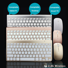Fashionable New Design 2.4G Ultra-Thin Wireless Keyboard and Mouse Combo Computer Accessories For Apple Mac PC WindowsXP Tv Box