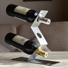3 Bottles Decorative Zig-Zag Wine Holder