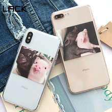 LACK Cute Pig Phone illustratin Case For iphone