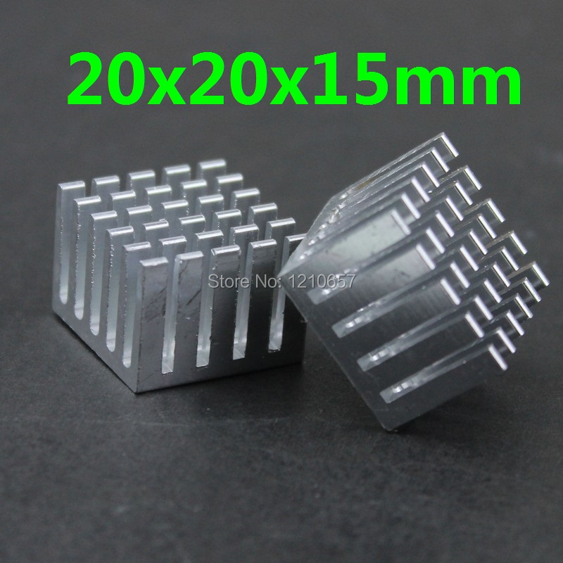 5 pieces lot 20x20x15mm Aluminum Heatsink Radiator For Chip Electronic 20pcs lot aluminum heatsink 14 14 6mm electronic chip radiator cooler w thermal double sided adhesive tape for ic 3d printer