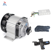 Electric Bike Brushless Motor 48V 500W BM1418ZXF kit Bicicleta Electrica Motorcycle, 420 Chain, Brushless Controller, Throttle
