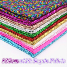 135cm*1Y 3mm paillette Sequin Fabric gold Glitter Fabric Cloth stage cloth Sparkly Sequin Fabric For Clothes/Part Cushion Decor цены