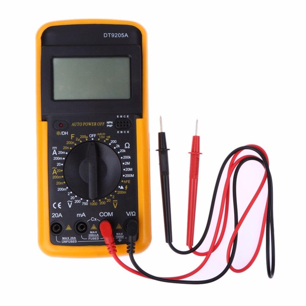 Multímetro Digital LCD probador AC DC voltímetro amperímetro voltios amperios resistores Ohms Metro eléctrico Multitester