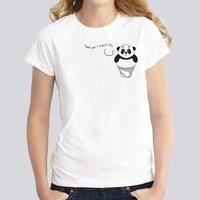 panda New Style design t-shirt female girl kawaii funny t shirt casual Tshirt women harajuku WTs1010