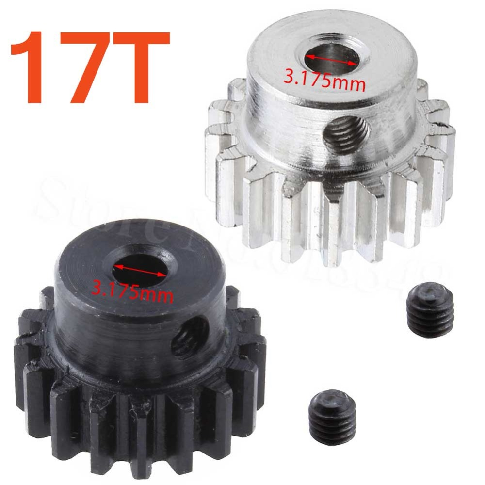 Metal Motor Pinion Gear 17T 3.175mm Hole 0088 For WLtoys 12428 12423 1/12 Scale RC Car Crawler Short Course Truck front diff gear differential gear for wltoys 12428 12423 1 12 rc car spare parts