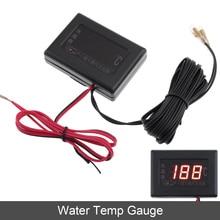 12V 24V Car Water Temp Gauges Universal Digital Display Anti-shake Gauge with Sensor Auto Instrument for Truck