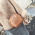 5 colores de Invierno nuevos bolsos de Alta calidad de cuero de LA PU de Las Mujeres bolsa de Inglaterra retro del bolso de hombro de Gran capacidad copa redonda Femenina bolsa