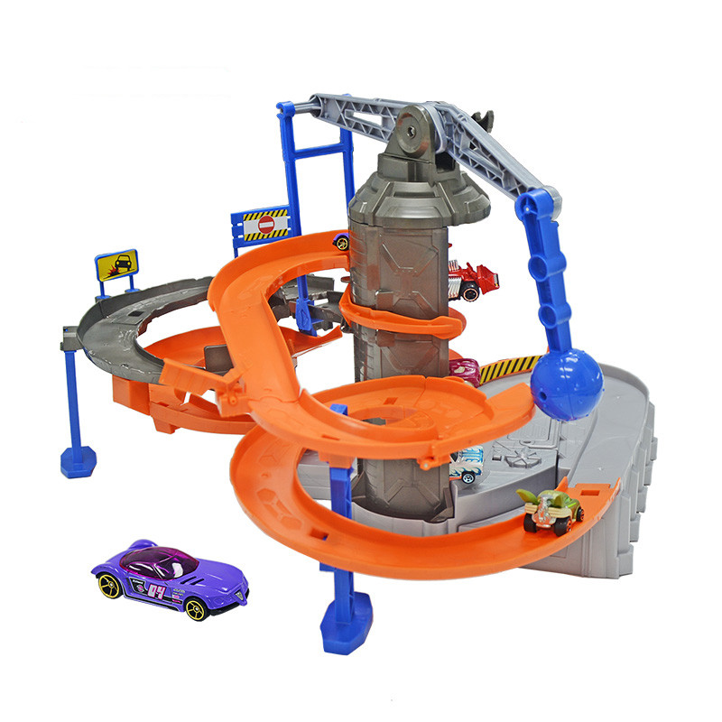 Hotwheels track Toy Kids Play Toys Plastic Metal Miniatures Cars Machines For Kids Brinquedos Educativo DPD88 kids toys russian lacquer miniatures