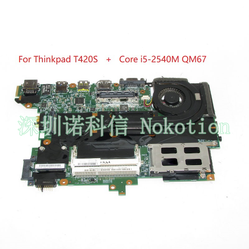 NOKOTION H0223-4 48.4KF58.041 FRU 63Y1725 laptop motherboard For lenovo thinkpad T420S Core i5-2540M QM67 DDR3 Main board