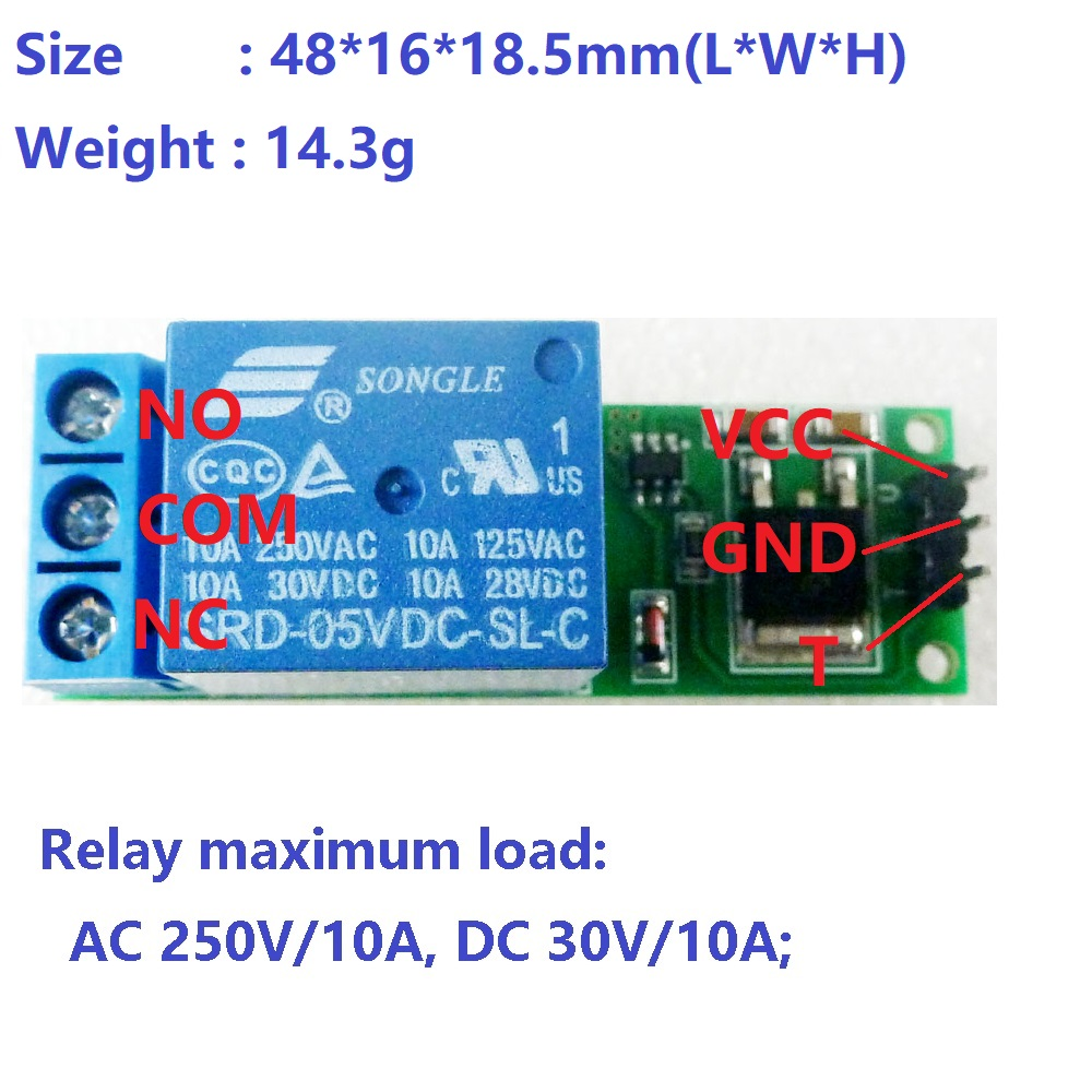 2x Dc 6v 9v 12v 24v Flip Flop Latch Relay Module Bistable Self Dc5v To Dc30v Converter By 74hc14 Io25b01 8 7