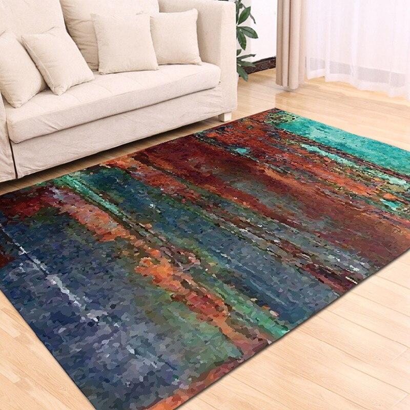 Tapis Rectangle imprimé couronne pour salon chambre enfant aire de jeux tapis corail velours chaise tapis de sol maison Textile extérieur - 4