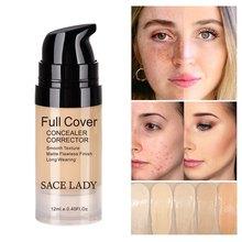 Cosméticos rosto corretivo creme up maquiagem maquillaje base cobertura completa à prova dwaterproof água fazer líquido facial corretor contorno