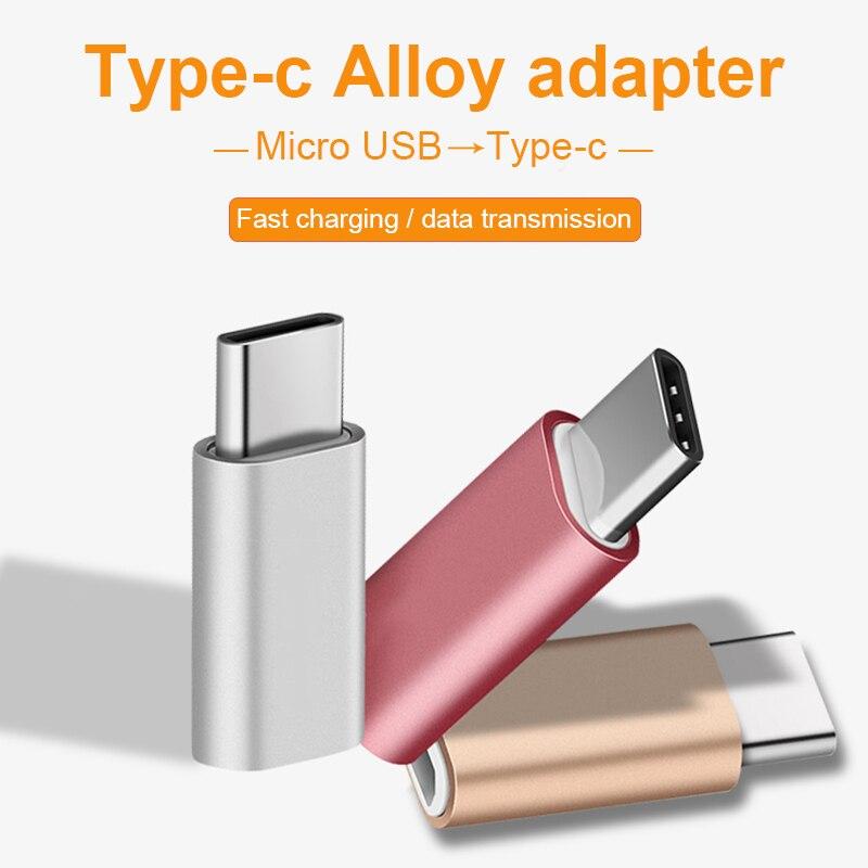 Adaptador tipo C a Micro USB para convertidor de cables Samsung, datos de carga para iPhone X 8 7 6 xiaomi redmi 4x5 plus tipo c