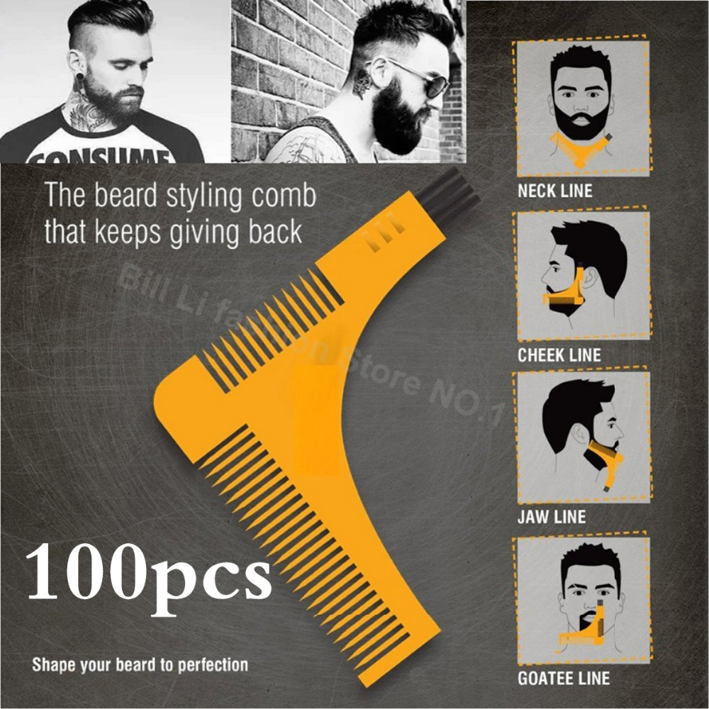 100PCS DHL UPS Beard Bro Hair Trimmers Hair Care Styling Man Beard Trim Template hair cut molding template beard modelling tools