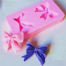 1 шт 3D силиконовая розовая форма для торта с бантиком 2 формы для помадки формы для выпечки украшения формы для сахарного шоколада