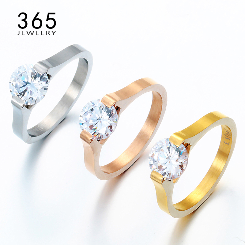Hot Fashion Jewelry Austrian Crystal CZ Stone Engagement Rings
